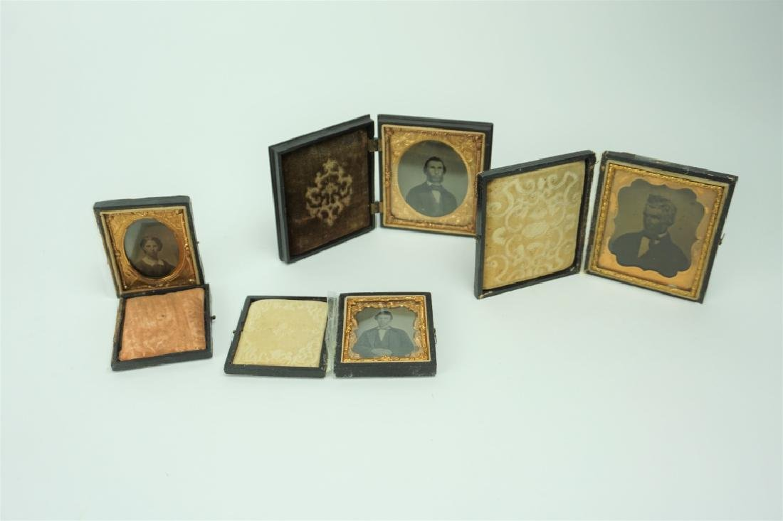 (4) ASSORTED ANTIQUE DAGUERROTYPES