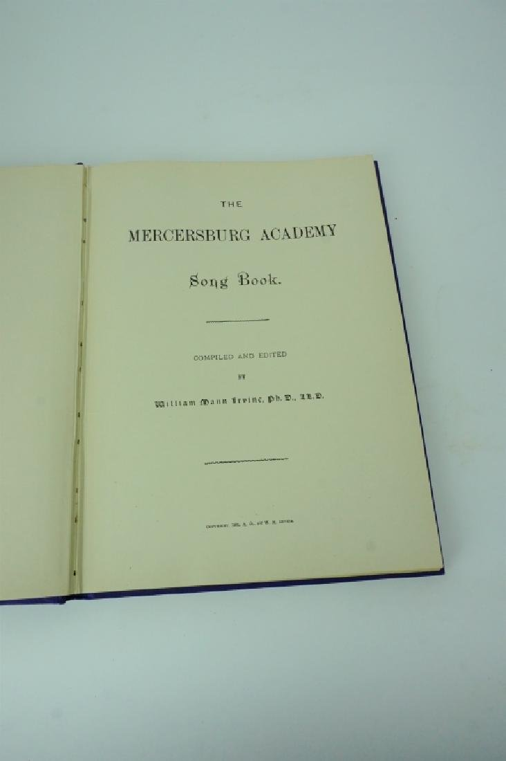 ANTIQUE MERCERSBURG ACADEMY SONG BOOK - 3