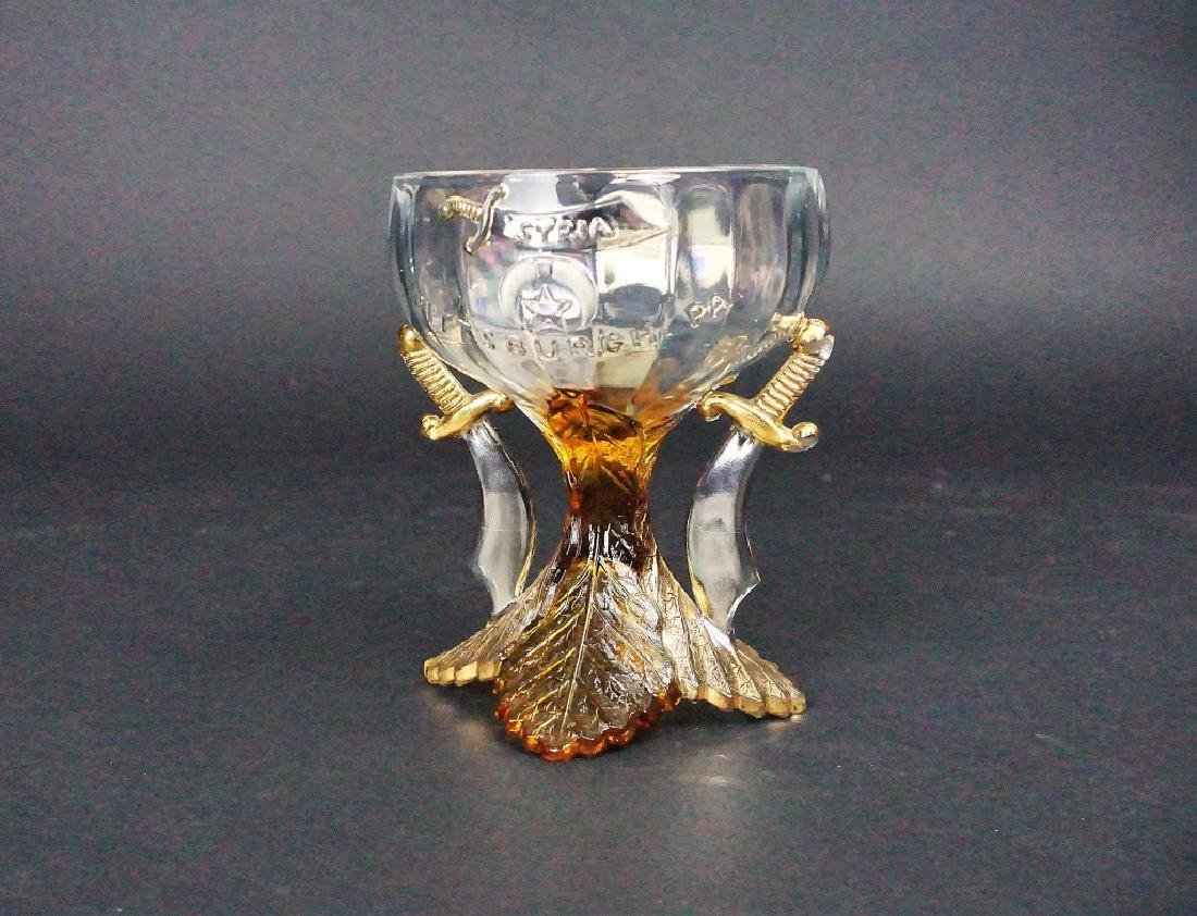 VINTAGE GLASS SYRIAN CUP
