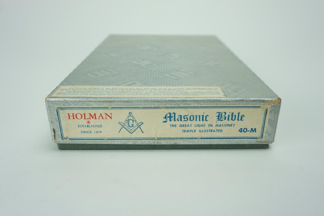 1951 HOLMAN MASONIC BIBLE IN ORIGINAL BOX