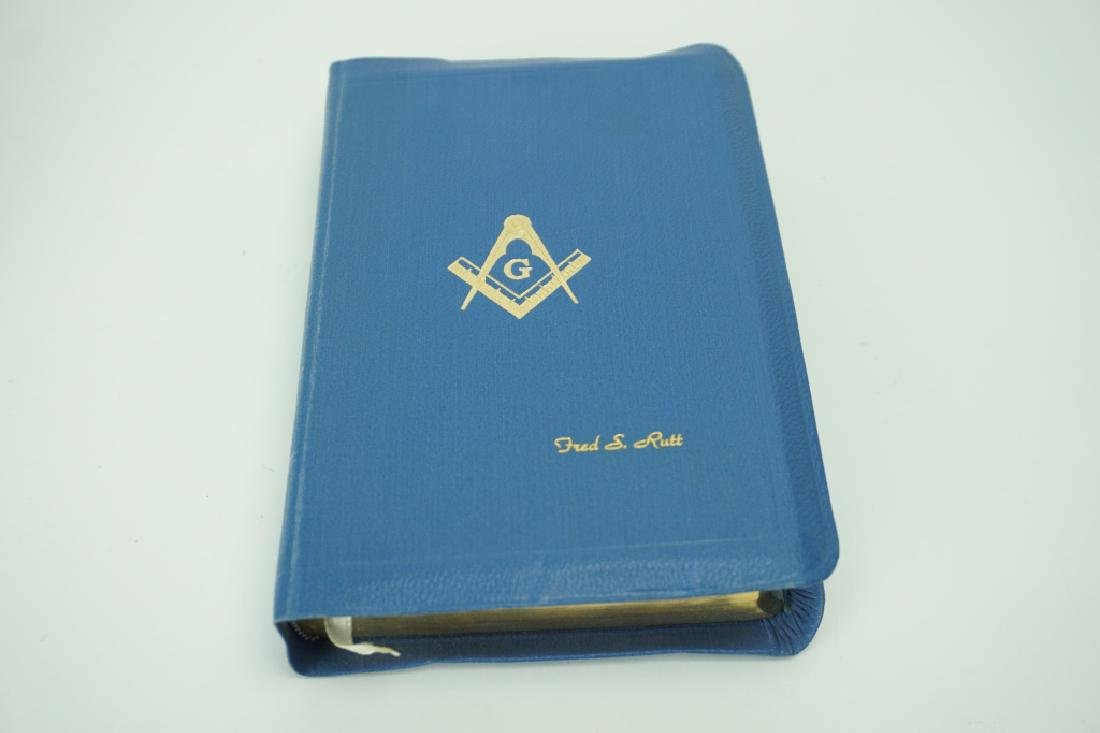 1951 HOLMAN MASONIC BIBLE IN ORIGINAL BOX - 4