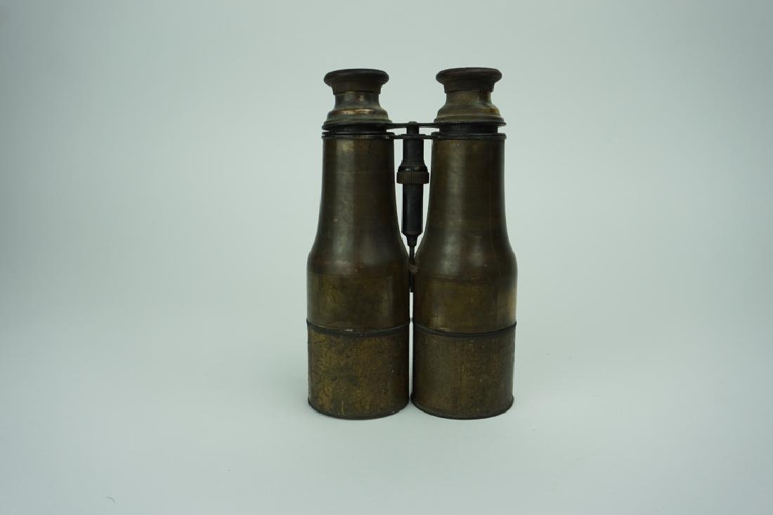 ANTIQUE BRASS BINOCULARS