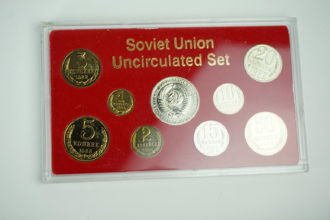 1988 SOVIET UNION PROOF SET COINS