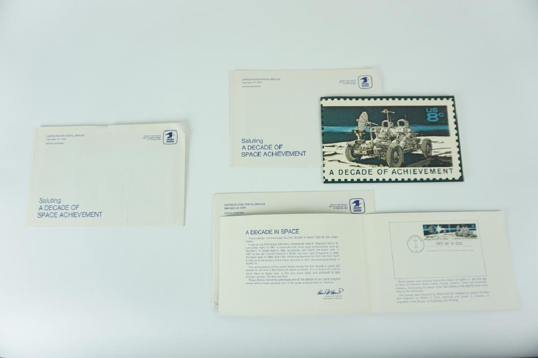 """(3) 1971 FIRST DAY """"DECADE OF ACHIEVEMENT"""" MAILERS"""