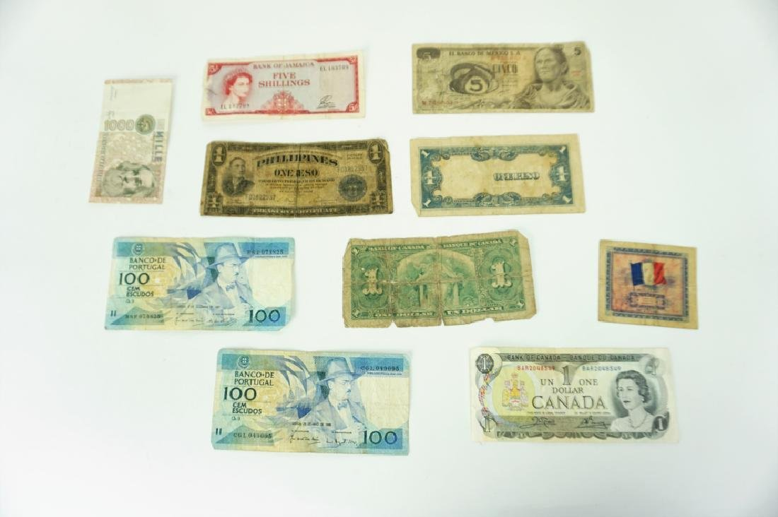 12pcs ASSORTED VINTAGE FOREIGN CURRENCY - 2