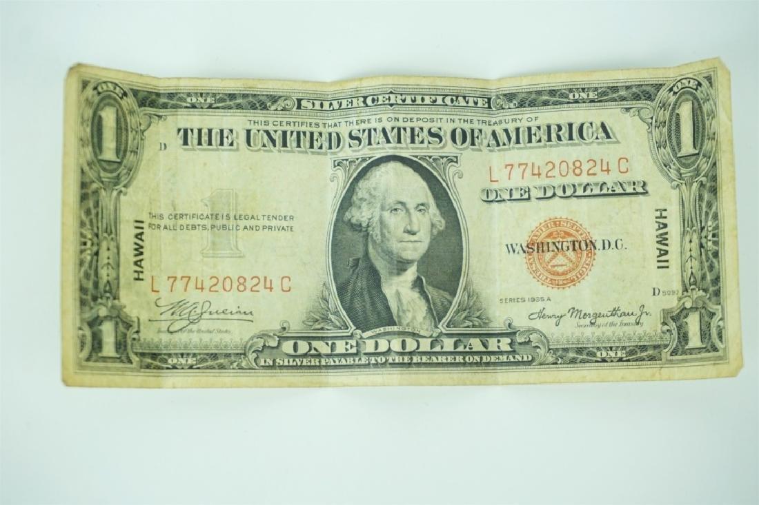 1935 A SILVER CERTIFICATE $1 HAWAII OVERPRINT NOTE