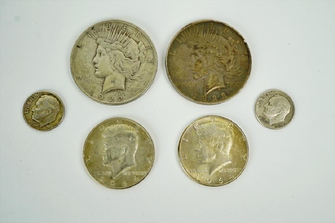 (6) ASSORTED US SILVER COINS