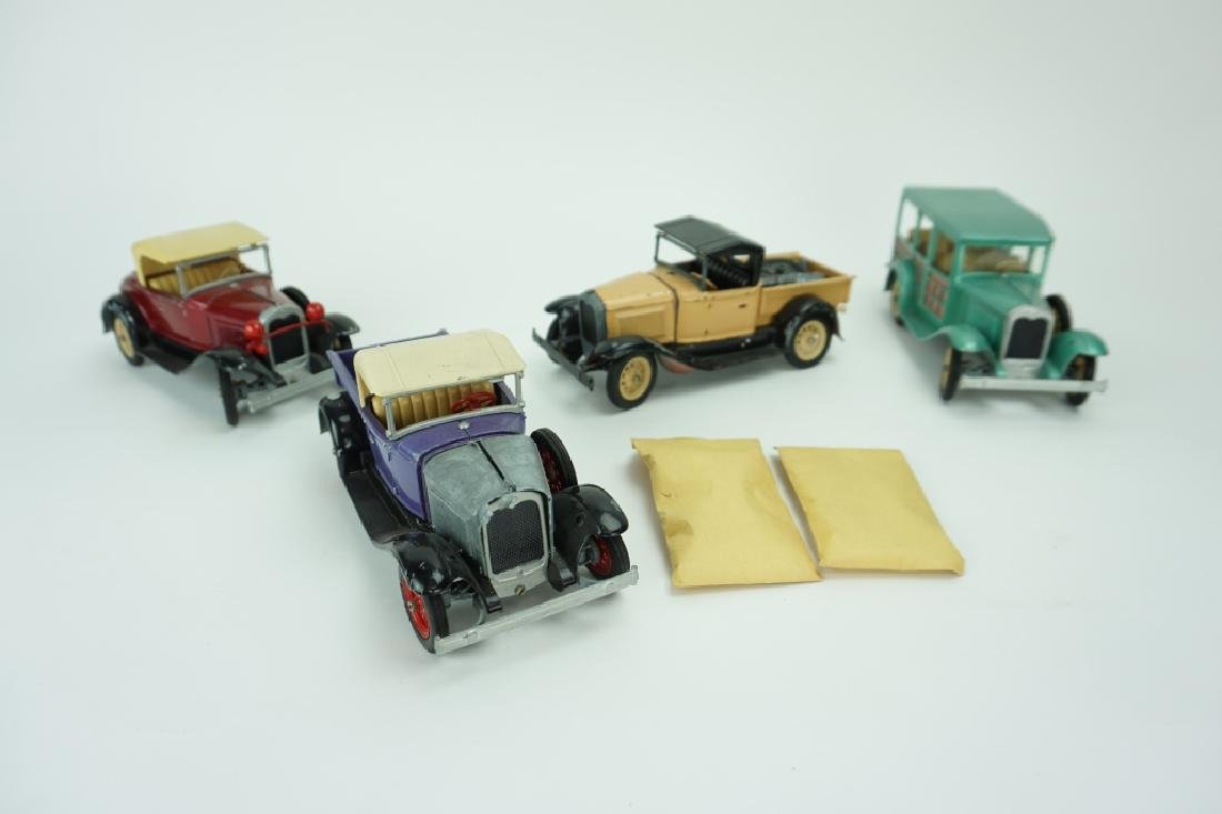 (4) ASSORTED VINTAGE HUBLEY TOY CARS