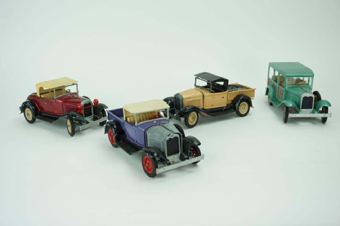 (4) ASSORTED VINTAGE HUBLEY TOY CARS - 3