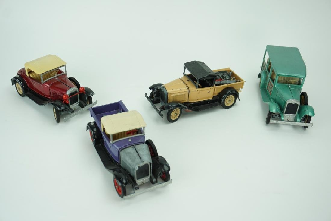 (4) ASSORTED VINTAGE HUBLEY TOY CARS - 4