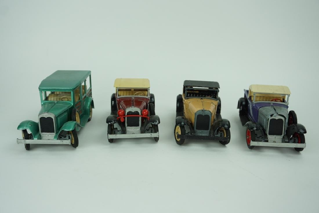 (4) ASSORTED VINTAGE HUBLEY TOY CARS - 6