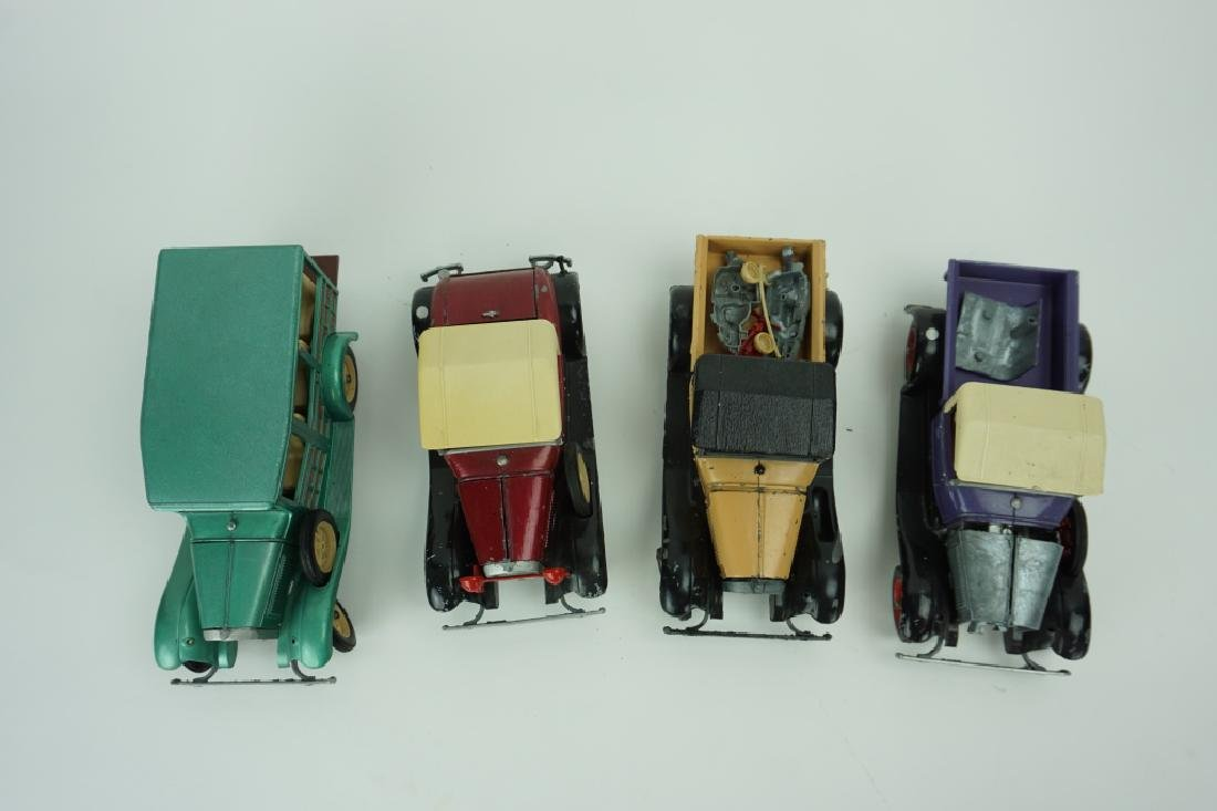 (4) ASSORTED VINTAGE HUBLEY TOY CARS - 7