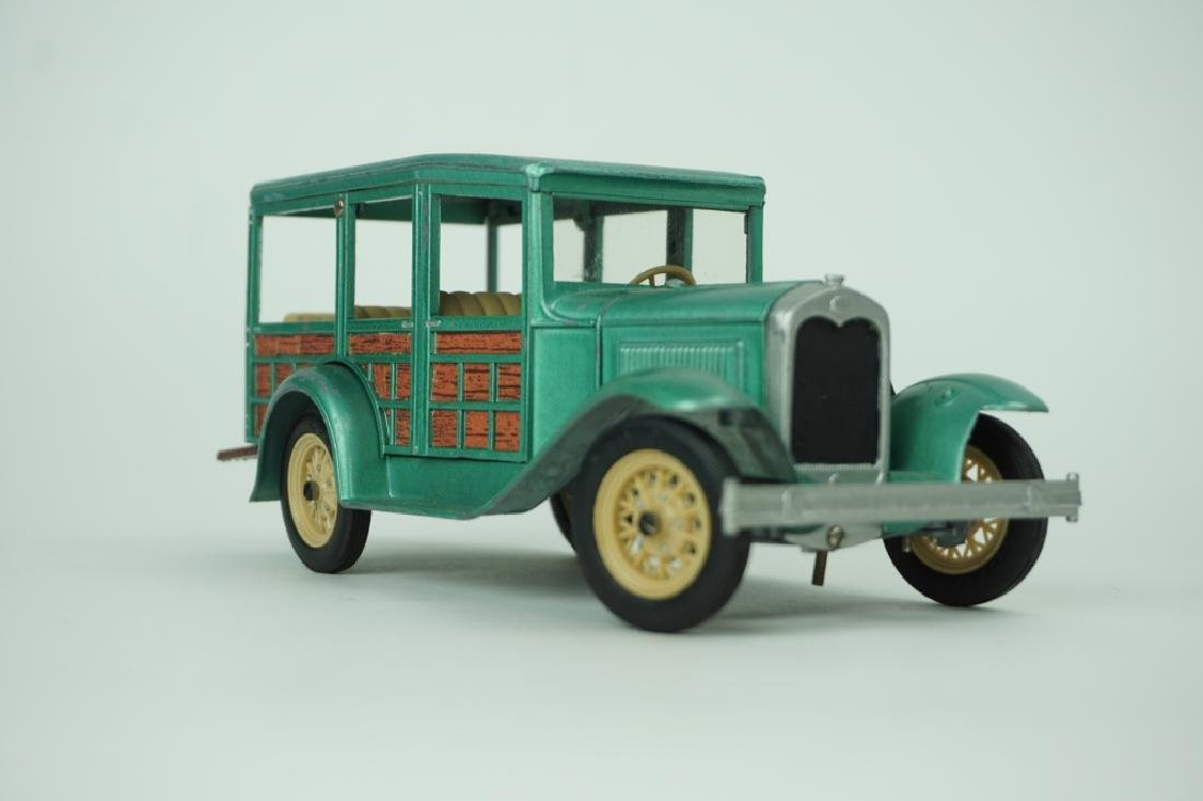 (4) ASSORTED VINTAGE HUBLEY TOY CARS - 8