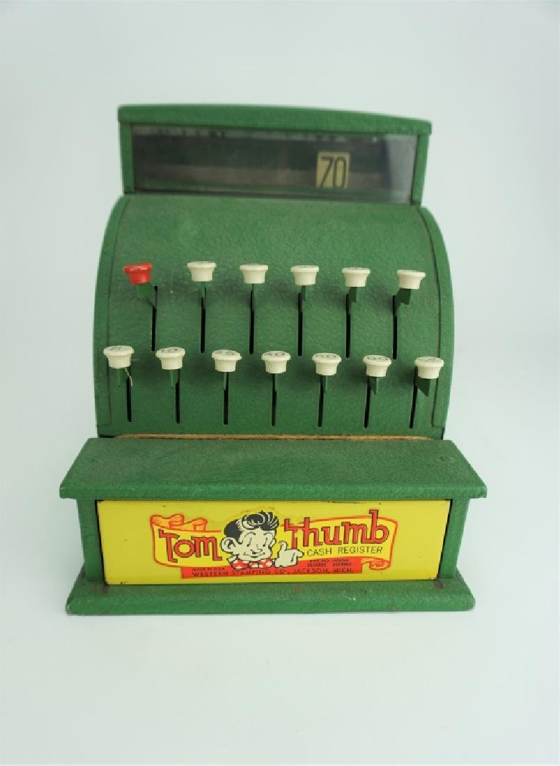 VINTAGE TOM THUMB TIN TOY CASH REGISTER