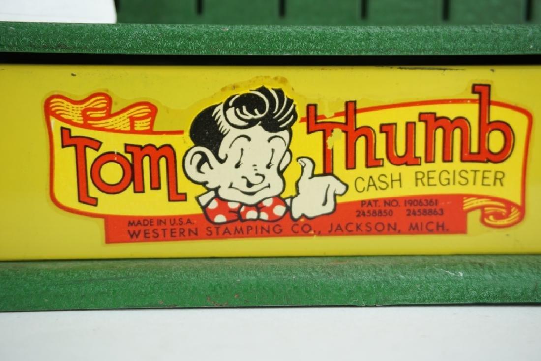 VINTAGE TOM THUMB TIN TOY CASH REGISTER - 5