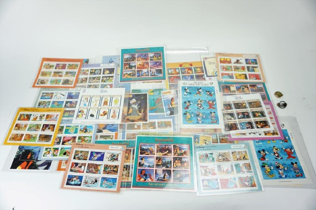 (38) INT'L COLLECTORS SOCIETY DISNEY STAMP SHEETS