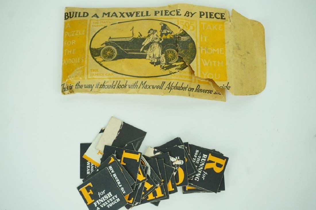 ANTIQUE PROMOTIONAL MAXWELL AUTOMOBILE PUZZLE