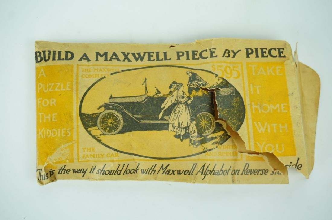 ANTIQUE PROMOTIONAL MAXWELL AUTOMOBILE PUZZLE - 3