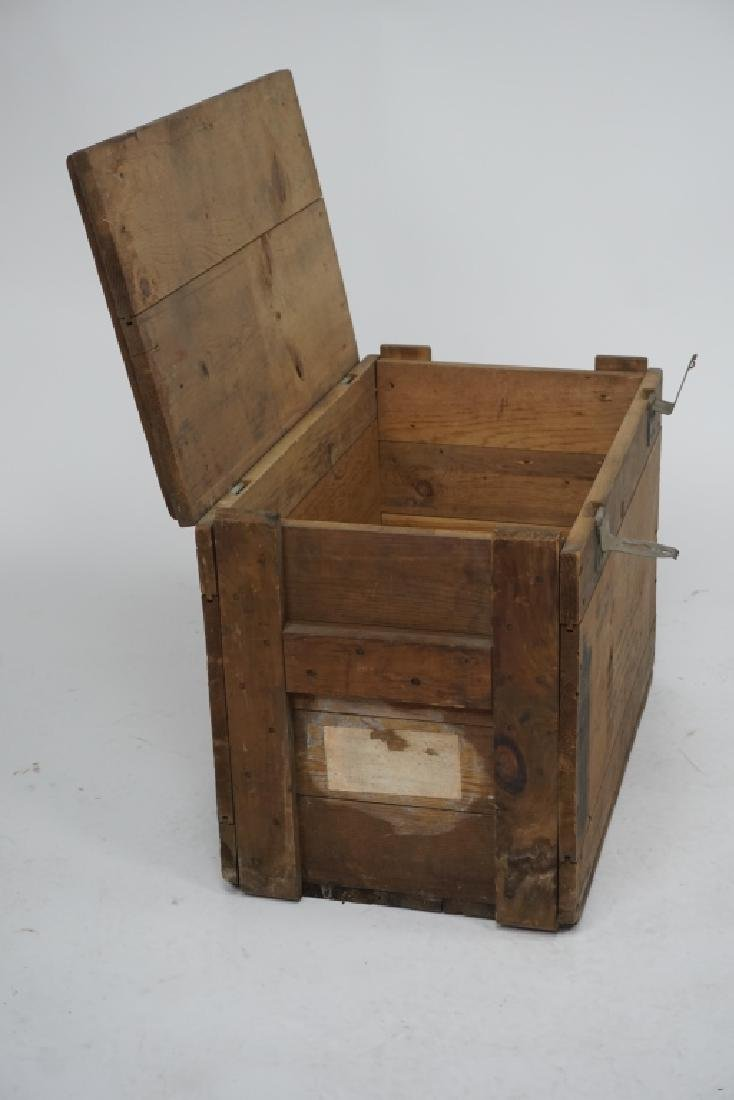 VINTAGE FRANKFORD ARSENAL WOODEN MILITARY CRATE - 6