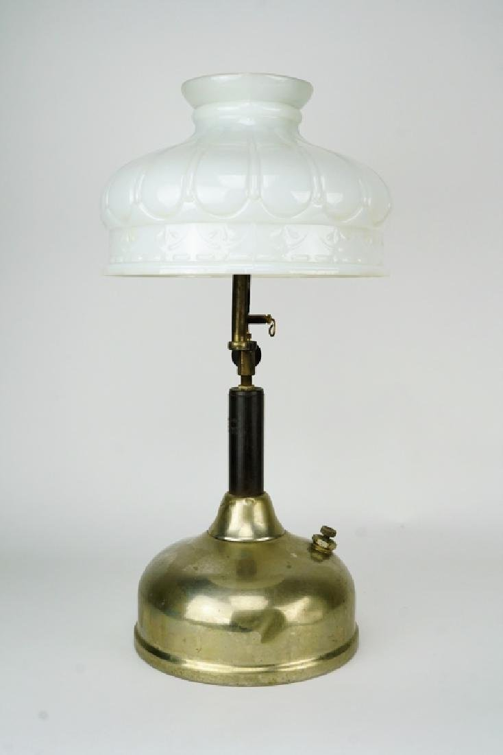 ANTIQUE COLEMAN QUICKLITE LAMP WITH SHADE