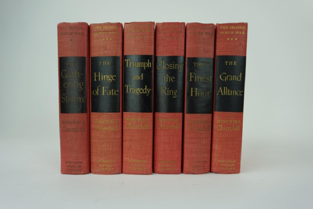 SET OF 6 SECOND WORLD WAR BOOKS BY W CHURCHILL