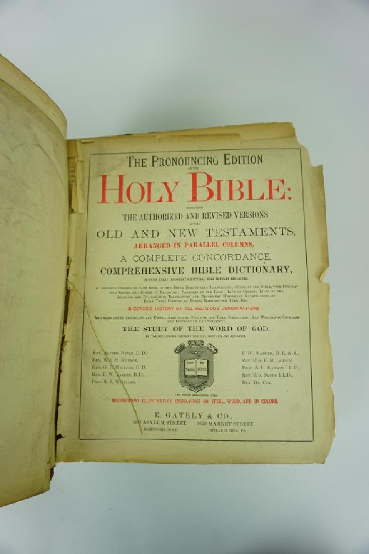 1890 PRONOUNCING EDITION HOLY BIBLE - 4