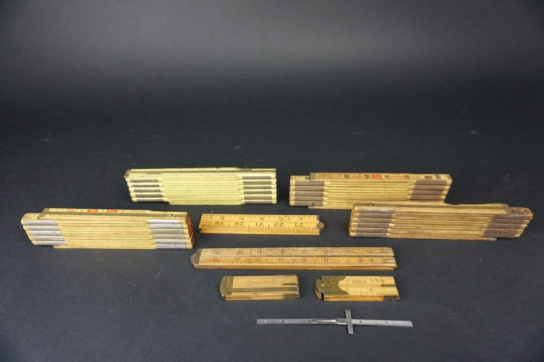 (8) ASSORTED VINTAGE FOLDING RULERS