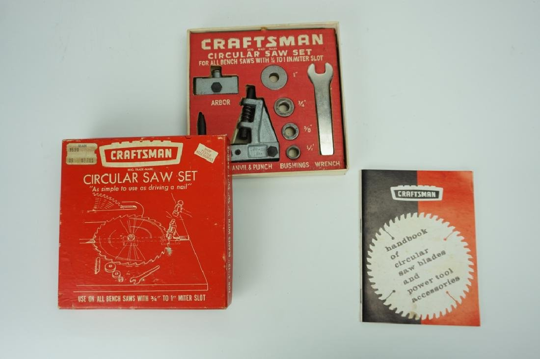 VINTAGE CRAFTSMAN CIRCULAR SAW SET