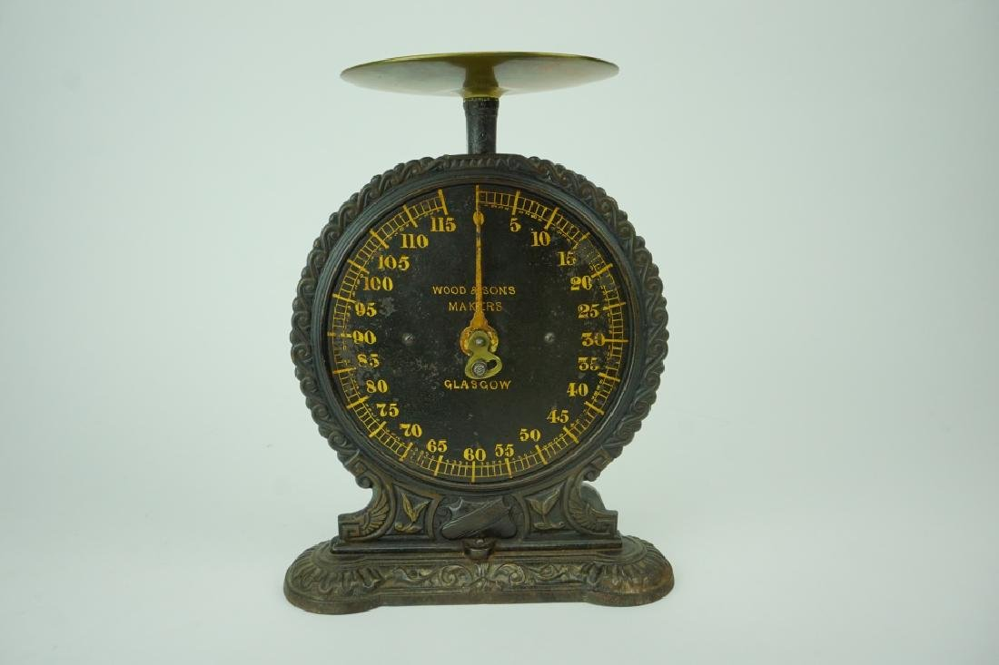 ANTIQUE WOOD & SONS GLASGOW COUNTER SCALE