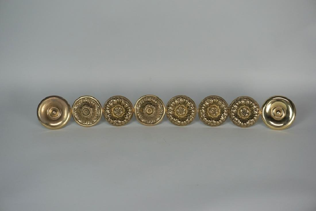 (4) PAIR BRASS CURTAIN TIE-BACKS