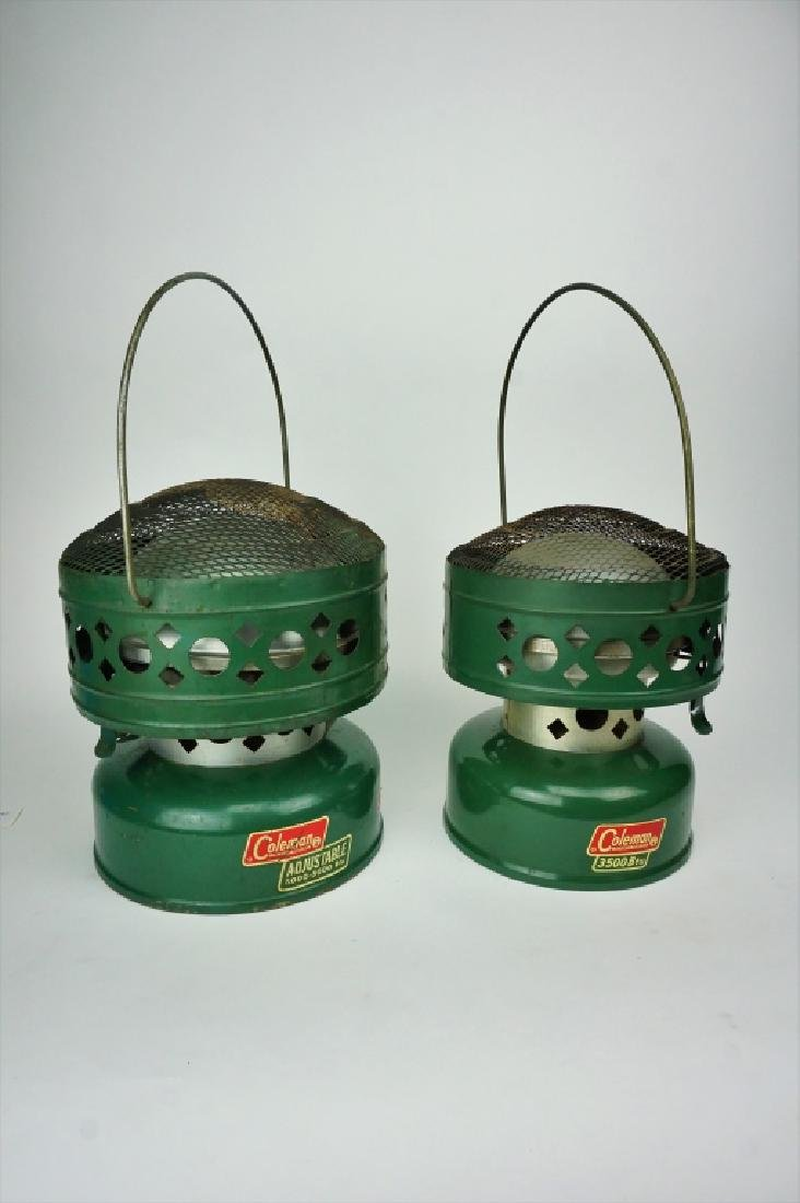 (2) ASSORTED VINTAGE COLEMAN HEATERS