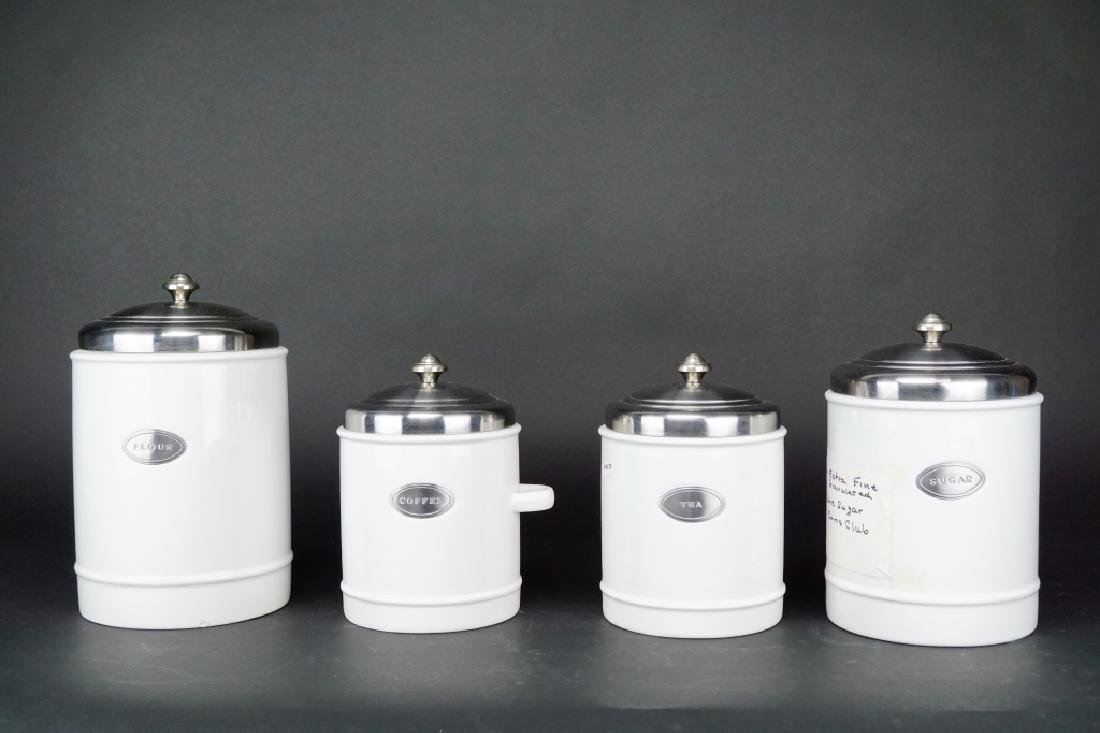 4pc WILLIAMS & SONOMA CANISTER SET