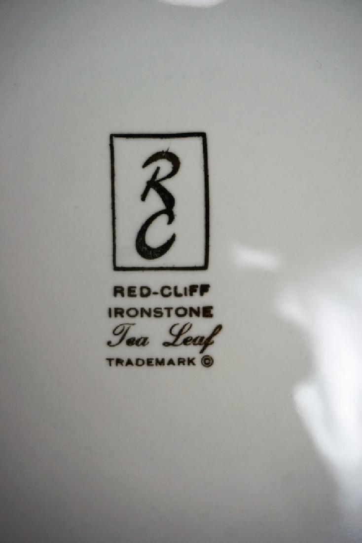 4pc VINTAGE RED CLIFF IRON STONE TUREEN SET - 3