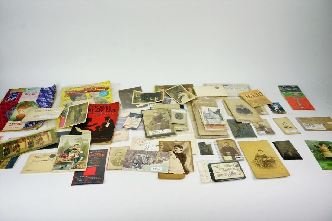 LOT OF ASSORTED EPHEMERA