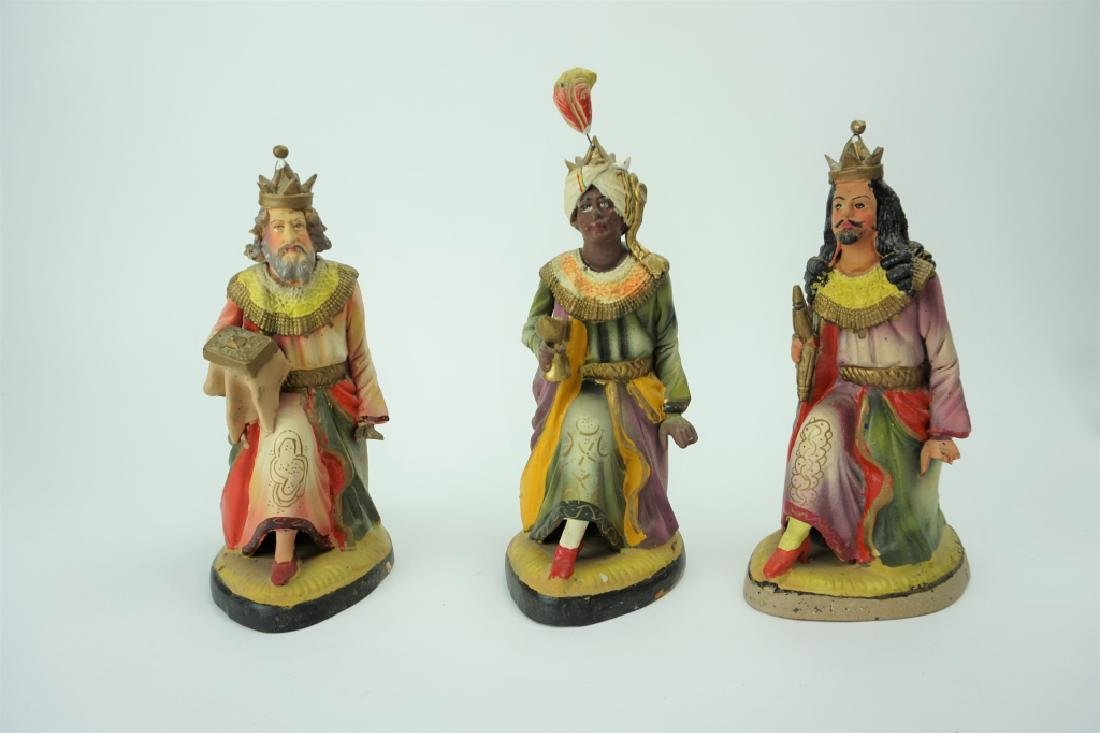 (3) VINTAGE POTTERY WISE MEN