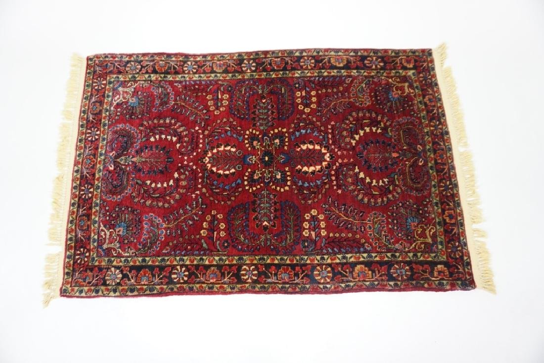ANTIQUE SAROUQ THROW RUG