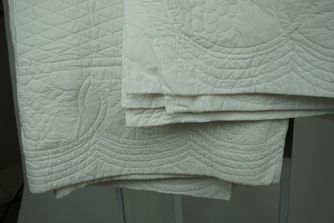 (2) HAND STITCHED SOLID WHITE QUILTS