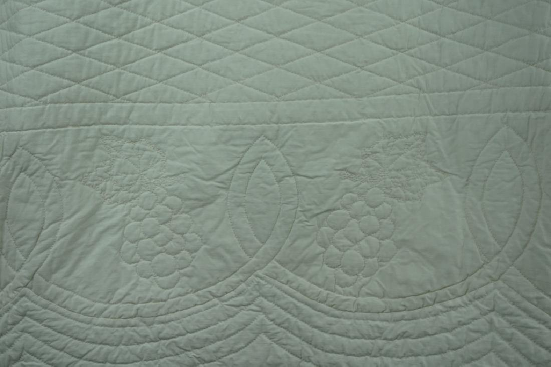 (2) HAND STITCHED SOLID WHITE QUILTS - 3