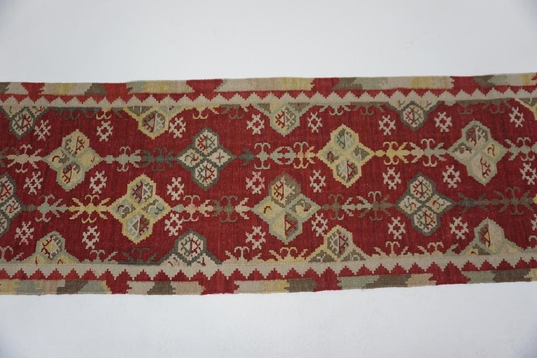 (2) TURKISH KILIM ORIENTAL RUGS