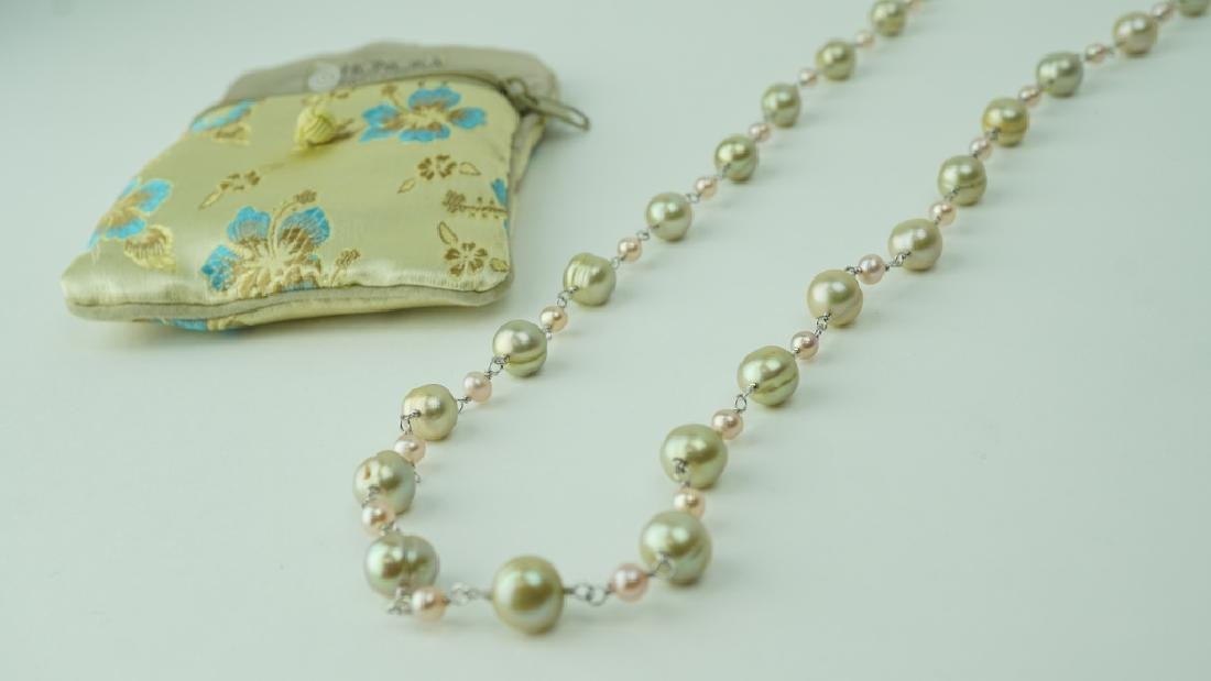HONORA GREEN AND PINK FRESHWATER PEARL NECKLACE