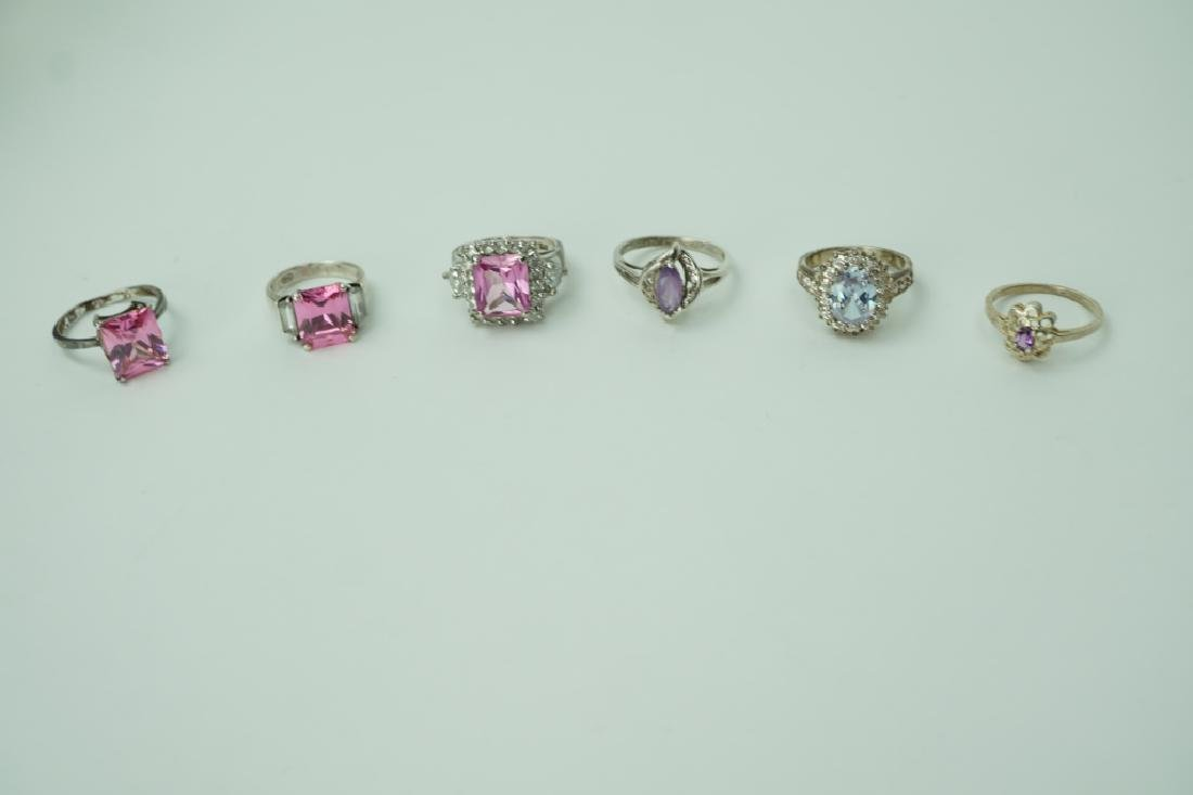 ASSORTED STERLING SILVER RINGS