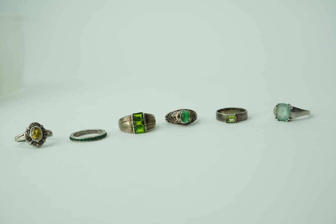 (6) ASSORTED STERLING SILVER RINGS