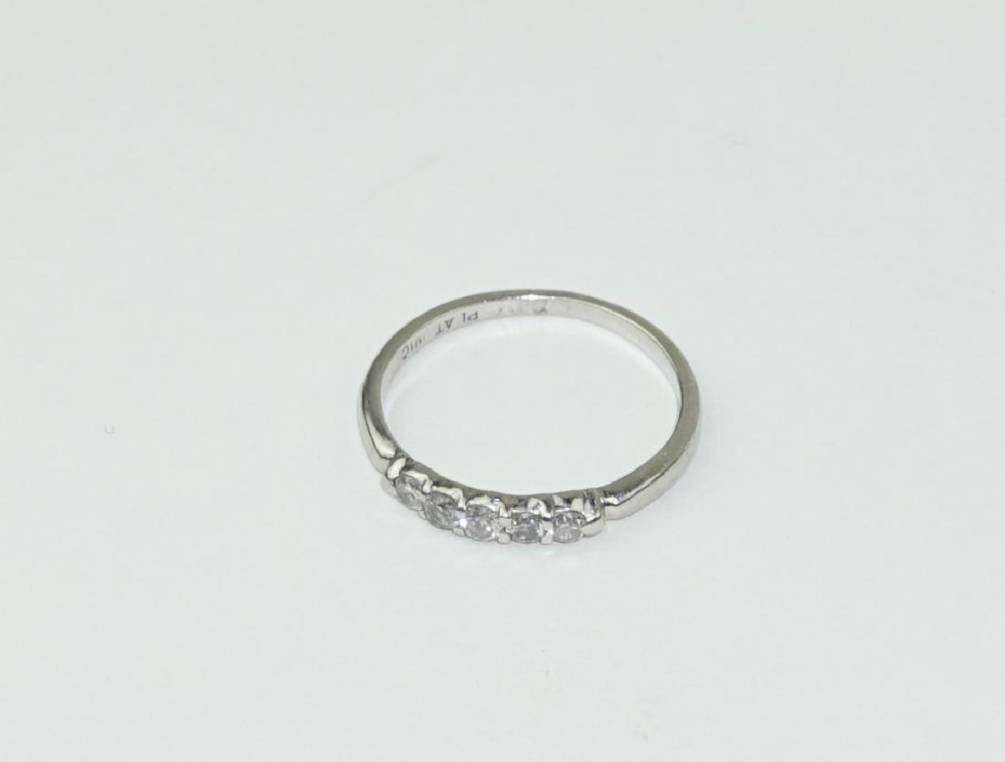 PLATINUM & DIAMOND RETRO STYLE RING