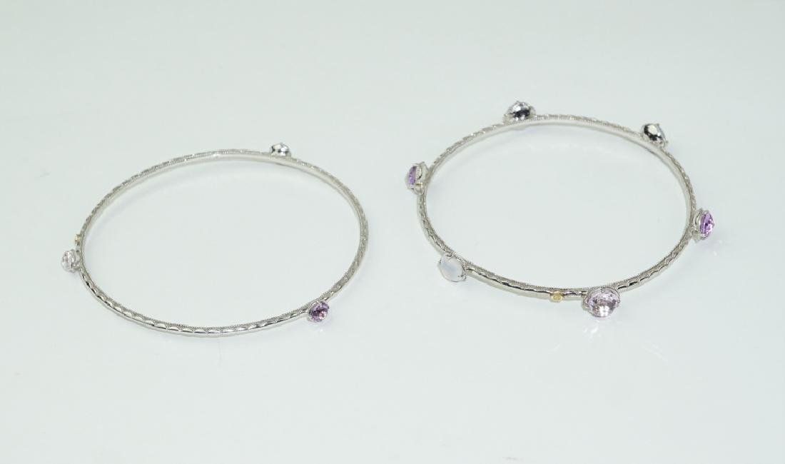 PAIR STERLING SILVER TACORI BANGLE BRACELETS