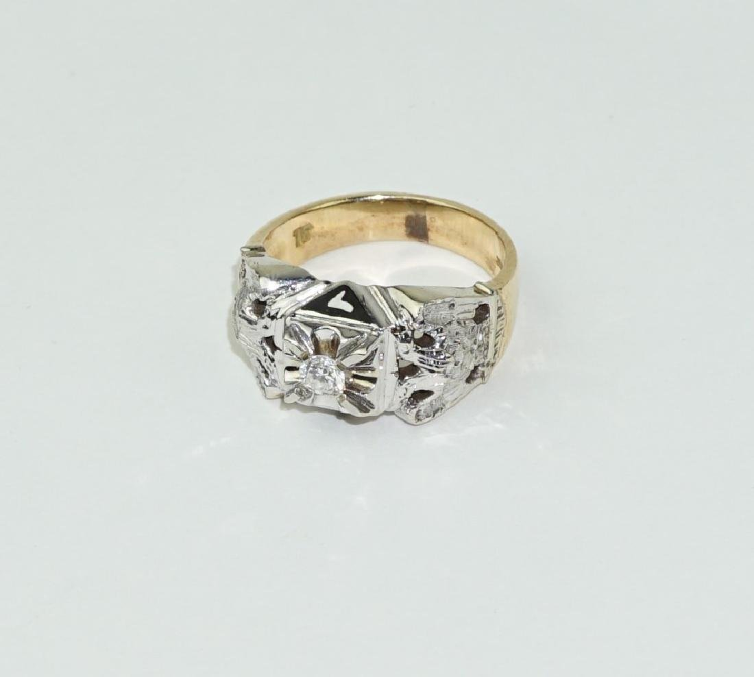 14K GOLD 32ND DEGREE MASONIC SCOTTISH RITE RING
