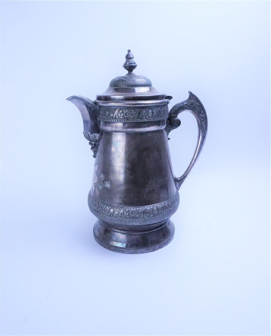 ANTIQUE WILCOX SILVERPLATE CO COFFEE URN
