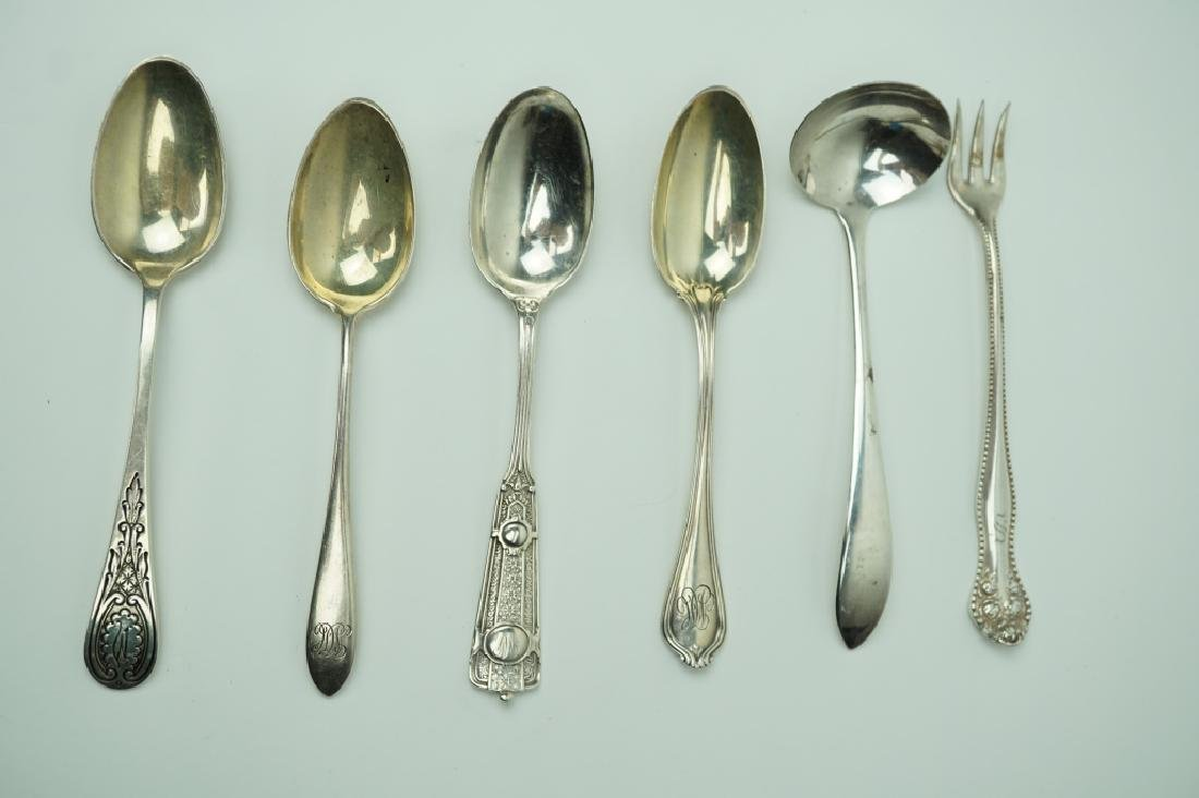 6pcs ASSORTED STERLING FLATWARE