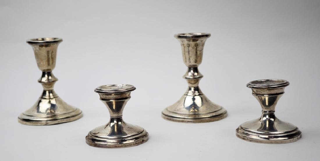 (2) PAIRS WEIGHTED STERLING CANDLESTICKS