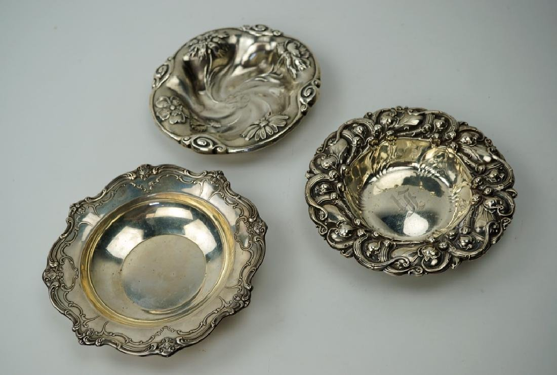 (3) STERLING SILVER DISHES