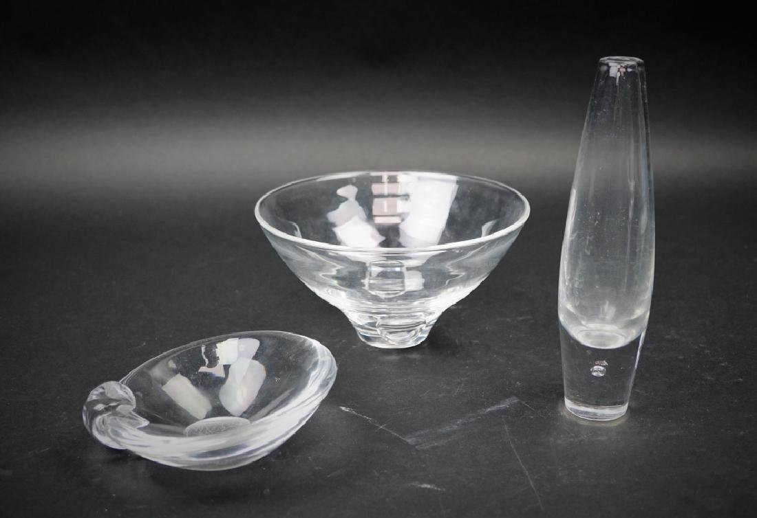 3pcs ASSORTED STEUBEN GLASS